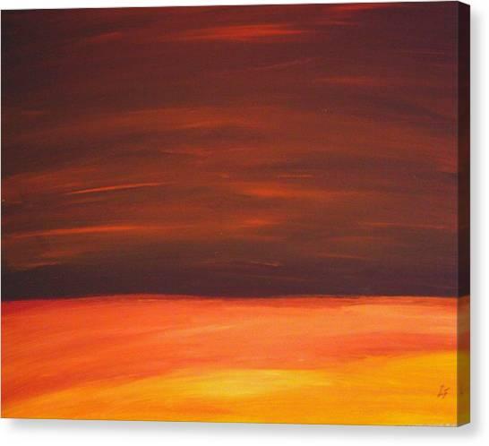 Sunset Over The Sandhills Canvas Print by Leonard Frederick
