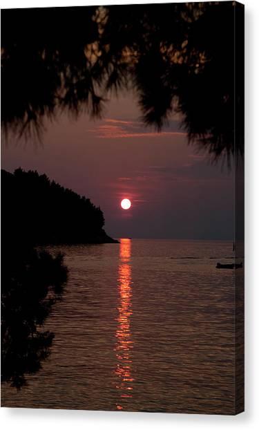 Sunset Over The Sea - Croatia Canvas Print