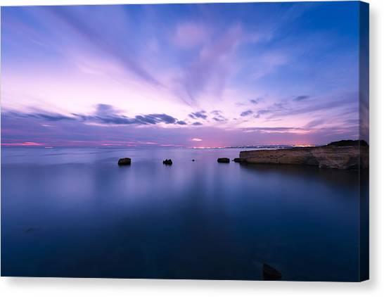 Sunset Over The Sicilian Sea Canvas Print