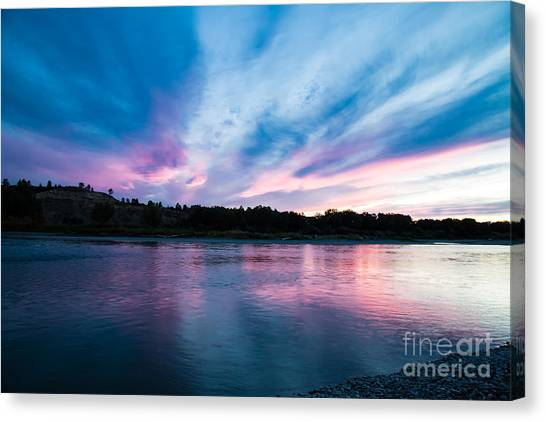 Sunset Over The Yellowstone Canvas Print