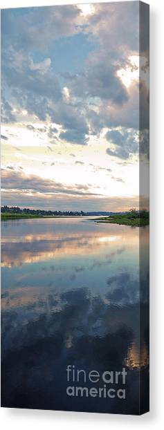 University Of Washington Canvas Print - Sunset Over Union Bay Tall Panorama by As the Dinosaur Flies Photography