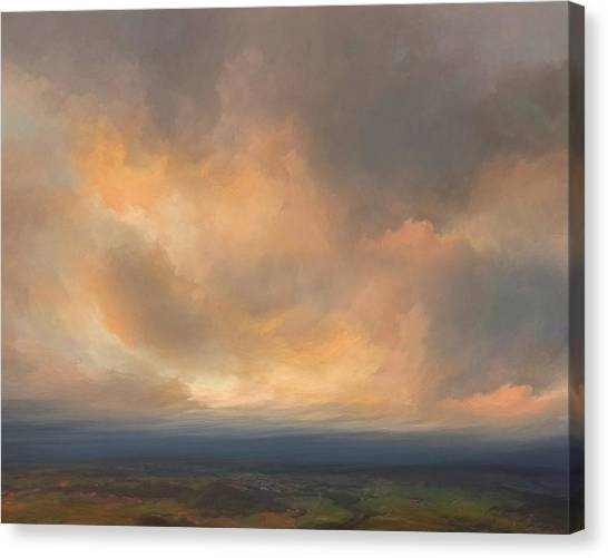 Sublime Canvas Print - Sunset Over Valley by Lonnie Christopher