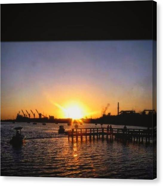 Off Road Canvas Print - #sunset #over #water #sotampa #bluesky by Peggy Hoefner