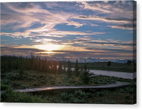 Sunset Over West Yellowstone Canvas Print