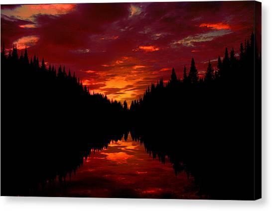 Sunset Over Wetlands Canvas Print