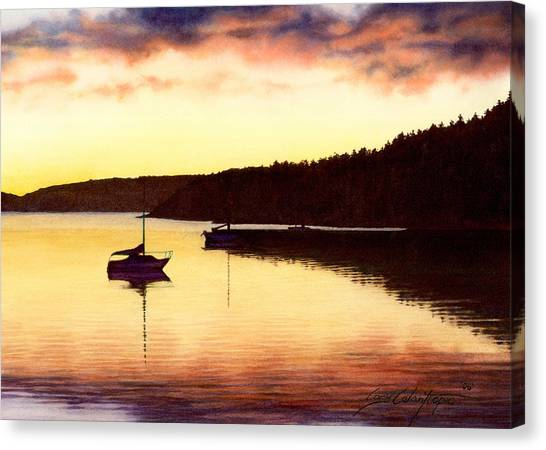 Sunset Panorama Right Side Canvas Print