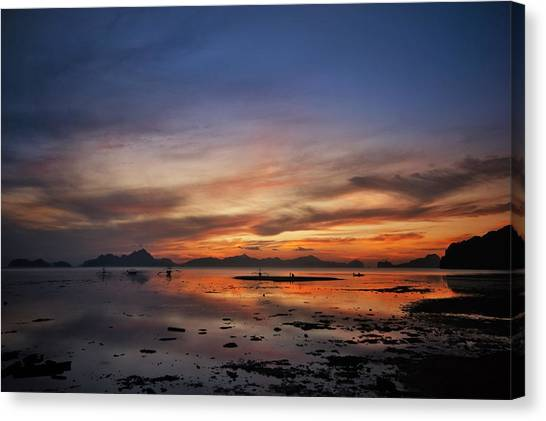 Sunset Pi Canvas Print