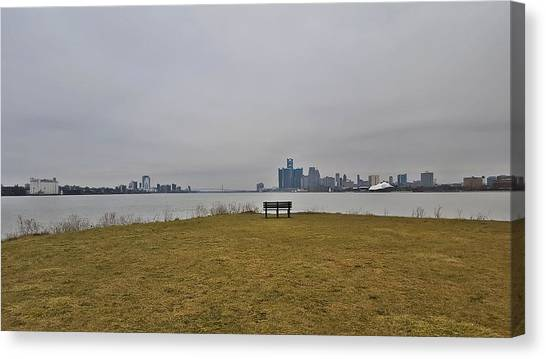 Detroit Tigers Canvas Print - Sunset Point by 2141 Photography