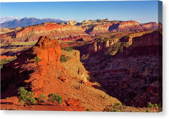 Sunset Point View Canvas Print