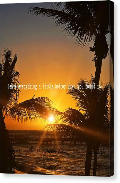 Sunset Quote Canvas Print by JAMART Photography