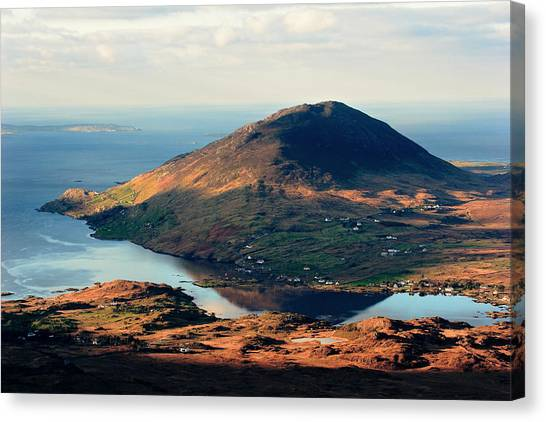 Sunset Reflection In Connemara Ireland Canvas Print by Pierre Leclerc Photography