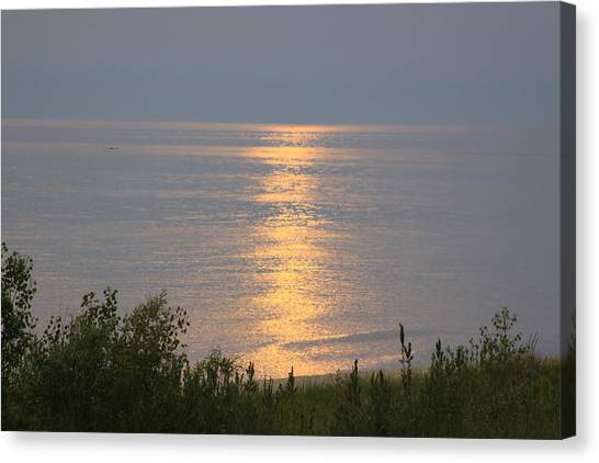 Sunset Reflections Canvas Print by Chuck Bailey