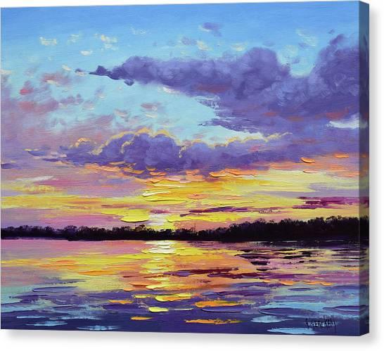 Ocean Sunrises Canvas Print - Sunset Reflections by Graham Gercken