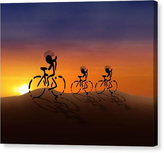 Desert Sunrises Canvas Print - Sunset Riders by Gravityx9 Designs