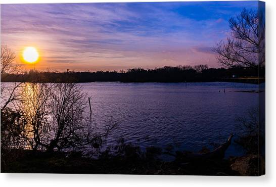 Sunset River Canvas Print