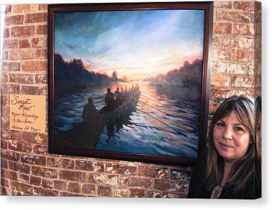 Sunset Row Canvas Print