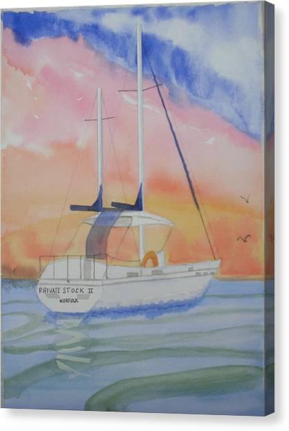 Sunset Sail 2 Canvas Print by Warren Thompson