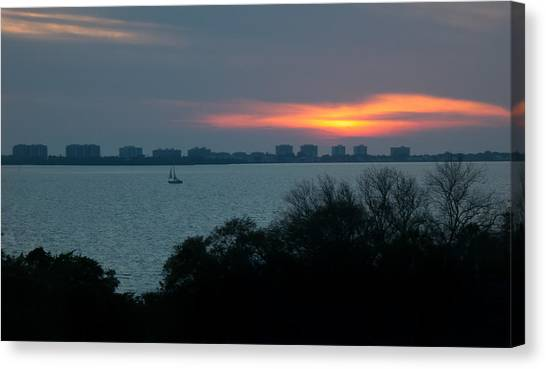 Sunset Sail On Sarasota Bay Canvas Print