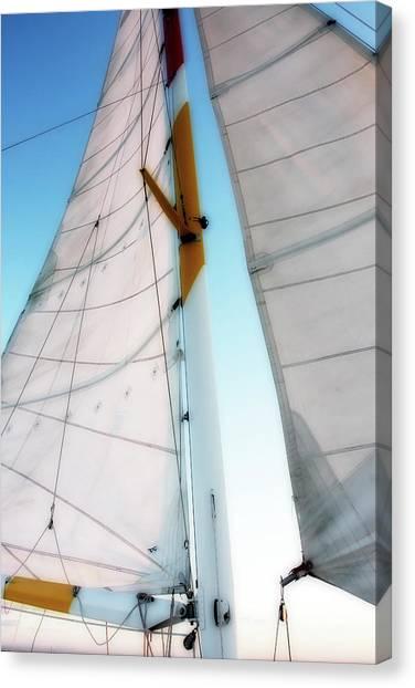 Sunset Sails 2 Canvas Print by Alan Hausenflock
