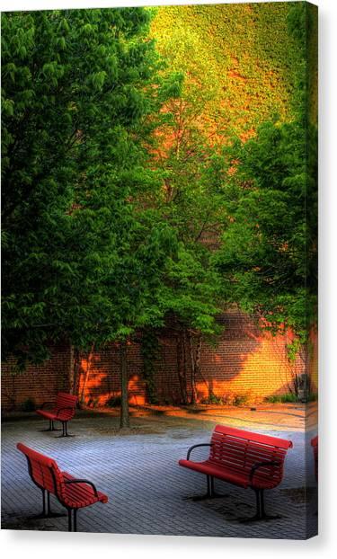 Sunset Seats Canvas Print
