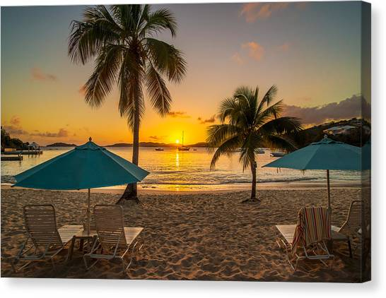 Sunset Secret Harbor Canvas Print