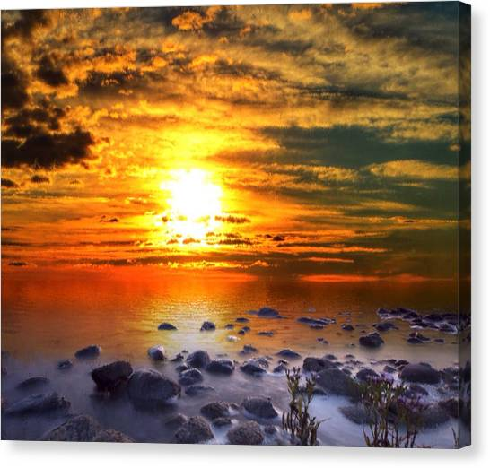 Sunset Shoreline Canvas Print