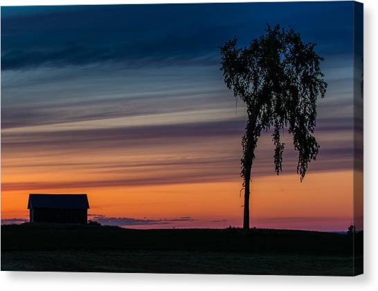 Sunset Silhouette Canvas Print