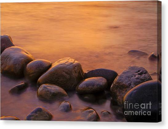 Shore Canvas Print - Sunset by Silke Magino