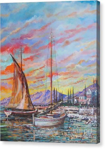 Sunset Canvas Print by Sinisa Saratlic