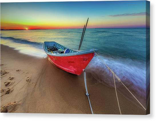 Sunset Skiff Canvas Print