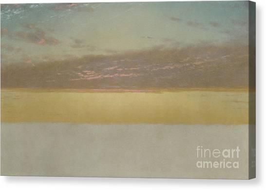 Sunset Horizon Canvas Print - Sunset Sky, 1872 by John Frederick Kensett