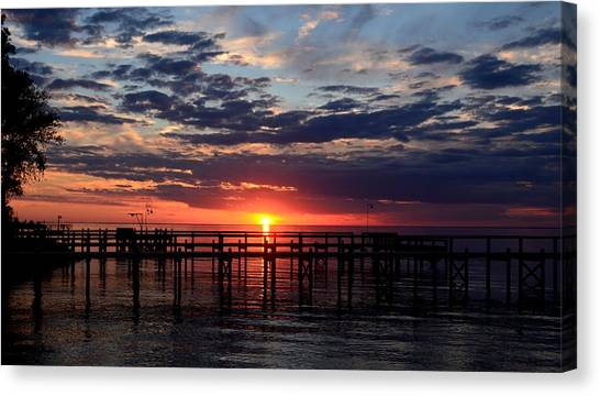 Sunset - South Carolina Canvas Print
