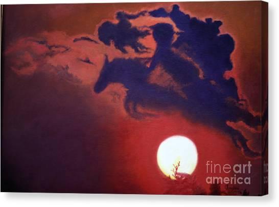 Sunset Steeplechase Canvas Print