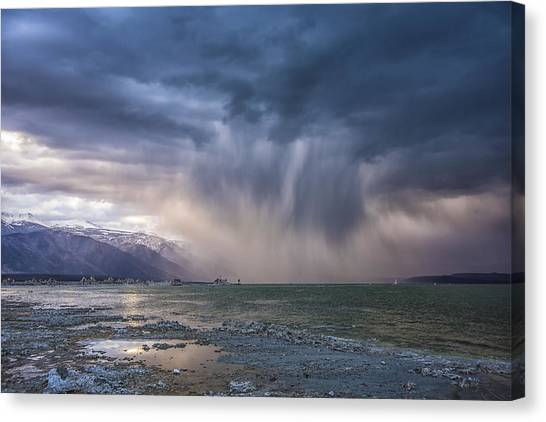 Sunset Storm Over Mono Lake Canvas Print