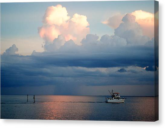 Sunset Storm Canvas Print by Steven Scott