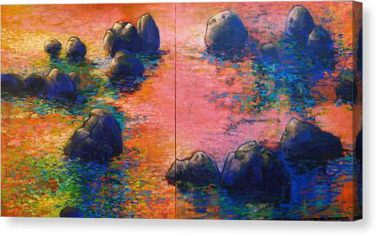 Sunset Stream Canvas Print by Dale  Witherow