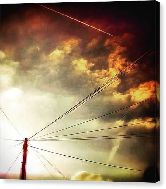 Sunset Horizon Canvas Print - #sunset #sun #tagsforlikes.com #tflers by Jason Michael Roust