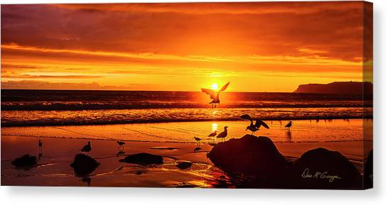 Sunset Surprise Pano Canvas Print