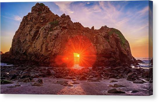 Sunset Through  Canvas Print