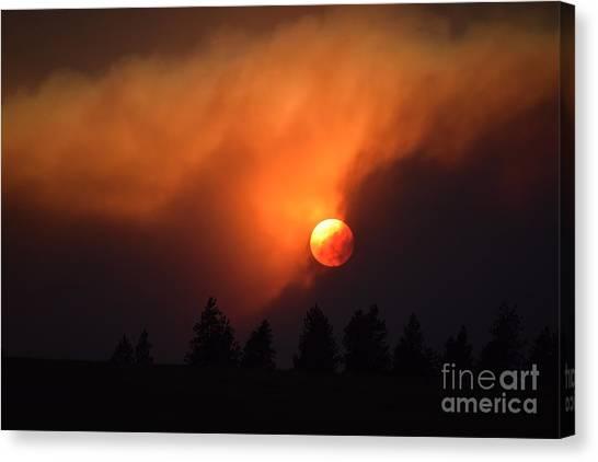 Sunset Through Smoke Canvas Print