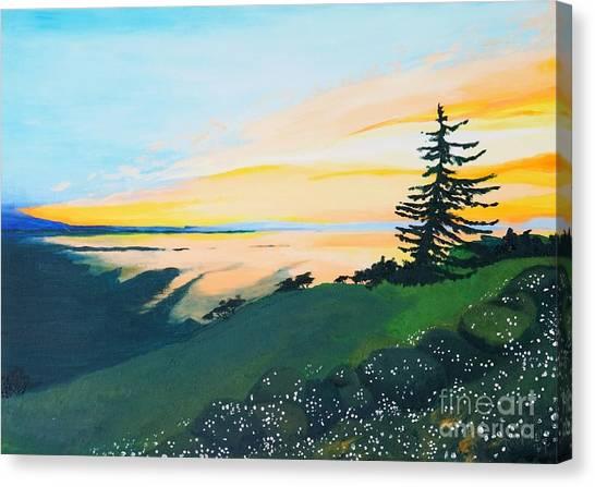 Sunset Canvas Print by Tiina Rauk