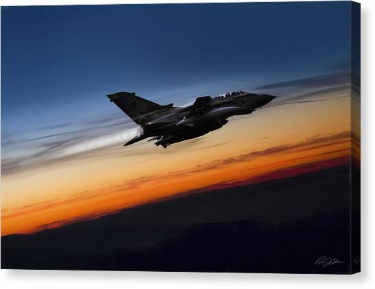 Tornadoes Canvas Print - Sunset Tornado by Peter Chilelli