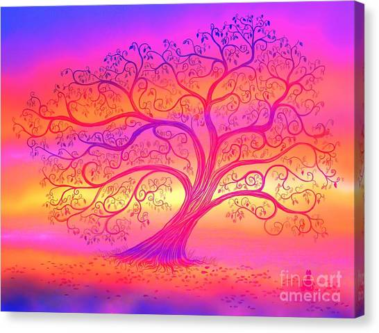 Canvas Print - Sunset Tree Cats by Nick Gustafson