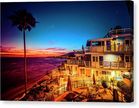 Sunset Twilight At The Laguna Riviera Canvas Print