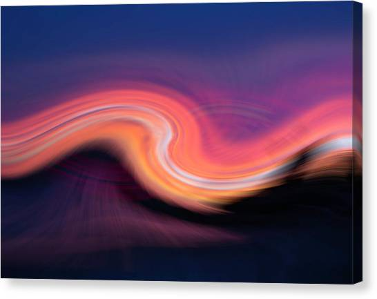 Sunset Twirl Canvas Print