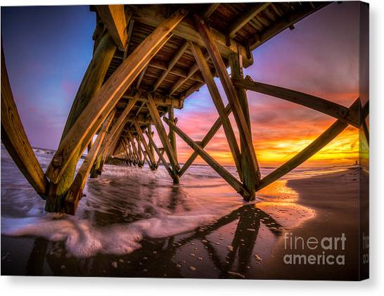 Sunset Under The Pier Canvas Print