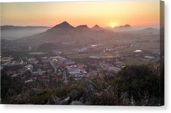 Cal Poly Canvas Print - Sunset Valley by Alexa Hedtke
