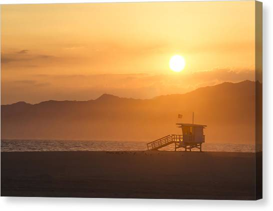 Sunset Venice Beach  Canvas Print