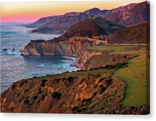 Sunset View From Hurricane Point Canvas Print