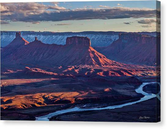 Sunset View From Omg Point Canvas Print